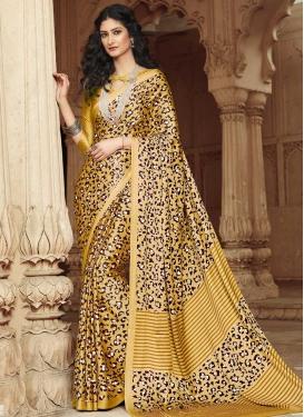 Satin Silk Digital Print Work Traditional Designer Saree