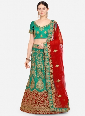 Satin Silk Lehenga Choli For Ceremonial