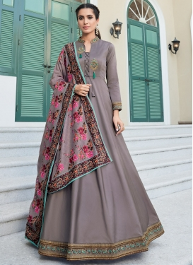 Satin Silk Readymade Designer Salwar Suit