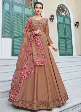 Satin Silk Readymade Salwar Suit