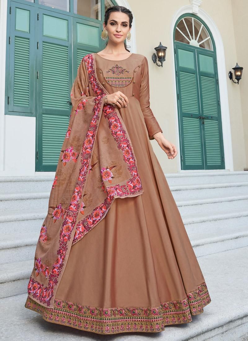 Satin Silk Readymade Salwar Suit