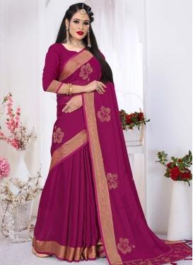 Satin Silk Stone Work Traditional Designer Saree