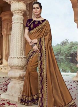 Satin Silk Traditional Designer Saree