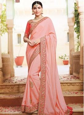 Satin Silk Traditional Designer Saree For Ceremonial