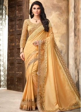 Satin Silk Traditional Designer Saree For Festival