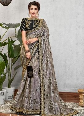 Satin Silk Traditional Designer Saree For Festival