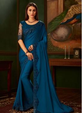 Satin Silk Traditional Designer Saree For Party