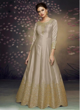 Satin Silk Trendy Anarkali Suit