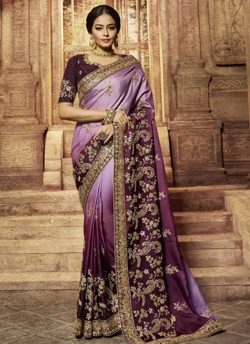 Satin Silk Trendy Classic Saree For Bridal