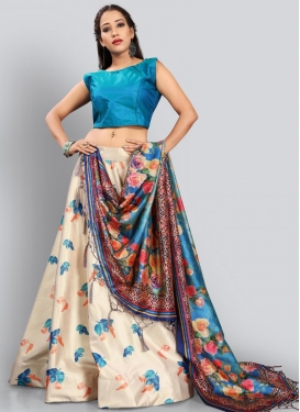 Satin Silk Trendy Lehenga