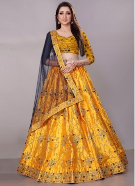 Satin Silk Trendy Lehenga Choli