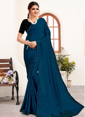 Satin Traditional Designer Saree For Ceremonial