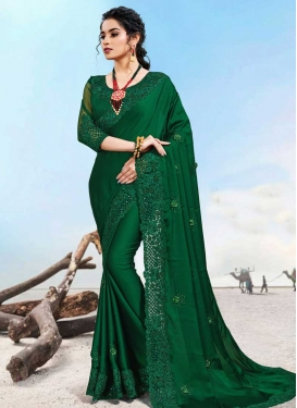 Satin Trendy Classic Saree For Party