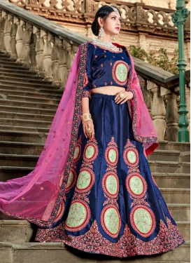 Satin Trendy Designer Lehenga Choli For Party