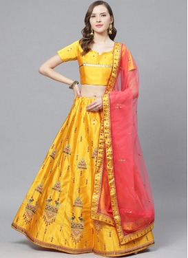 Satin Trendy Lehenga Choli For Festival