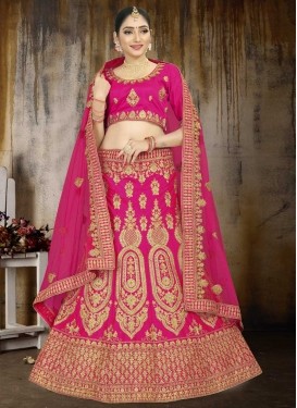 Satin Trendy Lehenga Choli For Party