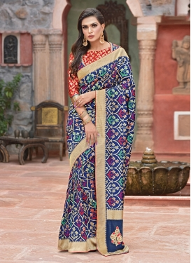 Savory Art Silk Multi Colour Designer Traditional Saree