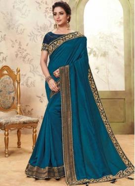 Scintillating Patch Border Fancy Fabric Classic Saree