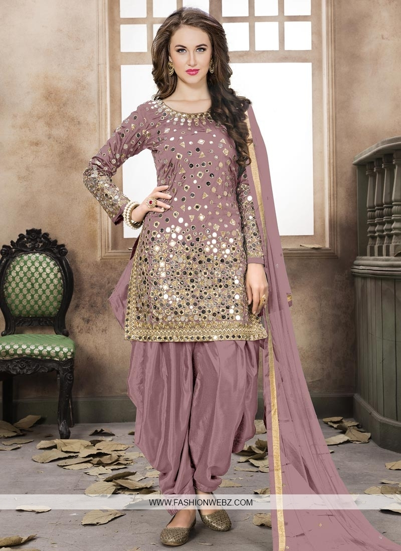 Semi Patiala Salwar Kameez For Festival