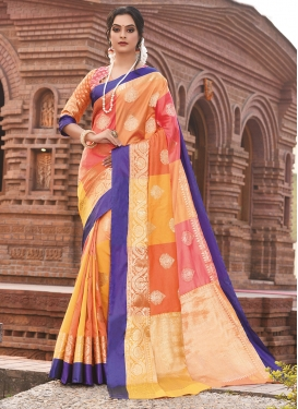 Sensible Weaving Art Silk Multi Colour Designer Traditional Saree
