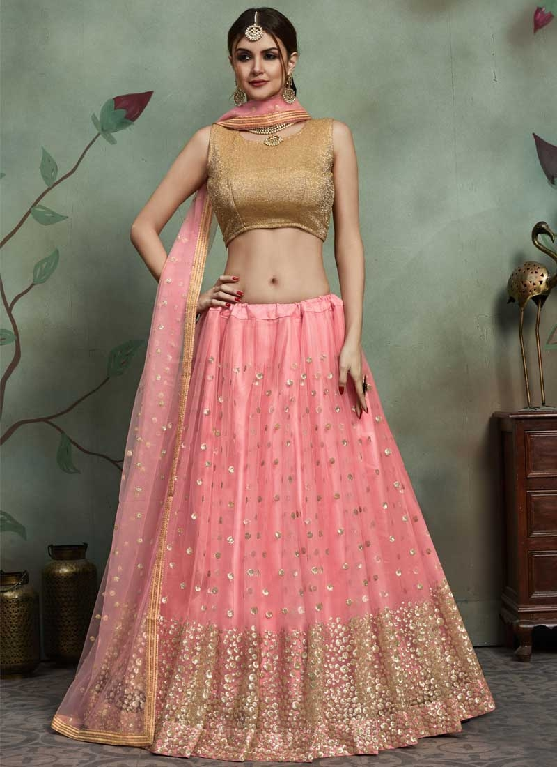 Sequins Work A Line Lehenga Choli