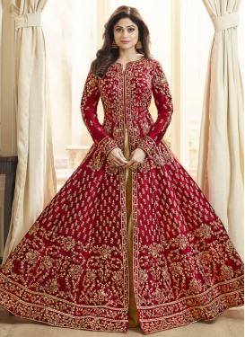 Shamita Shetty Art Silk Floor Length Designer Salwar Suit