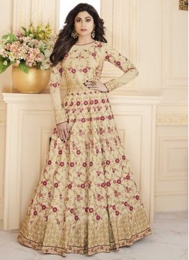 Shamita Shetty Embroidered Work Long Length Anarkali Salwar Suit