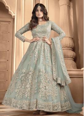 Shamita Shetty Embroidered Work Long Length Designer Anarkali Suit