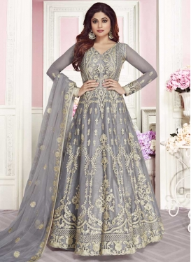 Shamita Shetty Embroidered Work Trendy Anarkali Salwar Suit
