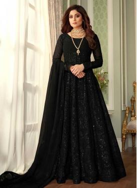 Shamita Shetty Faux Georgette Floor Length Anarkali Salwar Suit