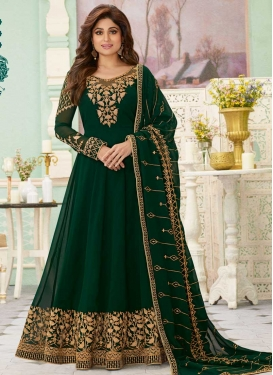 Shamita Shetty Faux Georgette Floor Length Anarkali Suit
