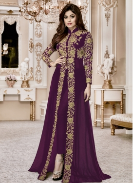 Shamita Shetty Faux Georgette Floor Length Designer Salwar Suit