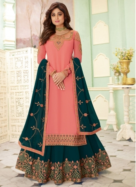 Shamita Shetty Faux Georgette Kameez Style Lehenga Choli