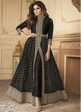 Shamita Shetty Faux Georgette Long Length Designer Suit