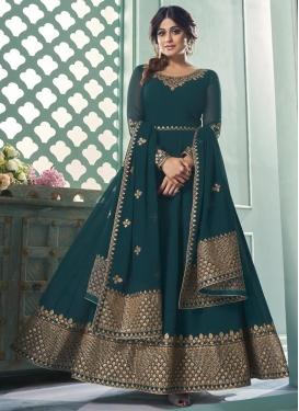 Shamita Shetty Faux Georgette Long Length Trendy Anarkali Suit