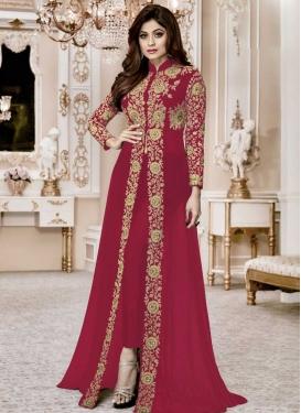 Shamita Shetty Faux Georgette Pant Style Salwar Kameez