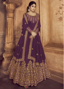 Shamita Shetty Long Length Anarkali Salwar Suit