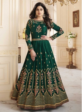 Shamita Shetty Long Length Designer Anarkali Suit
