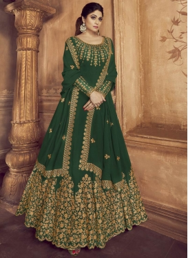 Shamita Shetty Long Length Designer Anarkali Suit For Festival