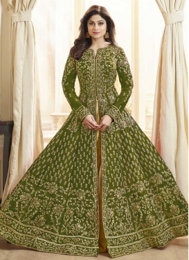 Shamita Shetty Long Length Salwar Kameez