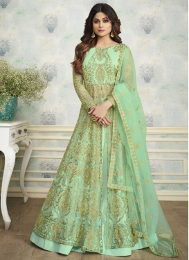 Shamita Shetty Net Designer Kameez Style Lehenga