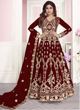 Shamita Shetty Net Long Length Anarkali Salwar Suit For Ceremonial