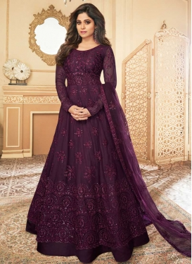 Shamita Shetty Net Long Length Anarkali Suit