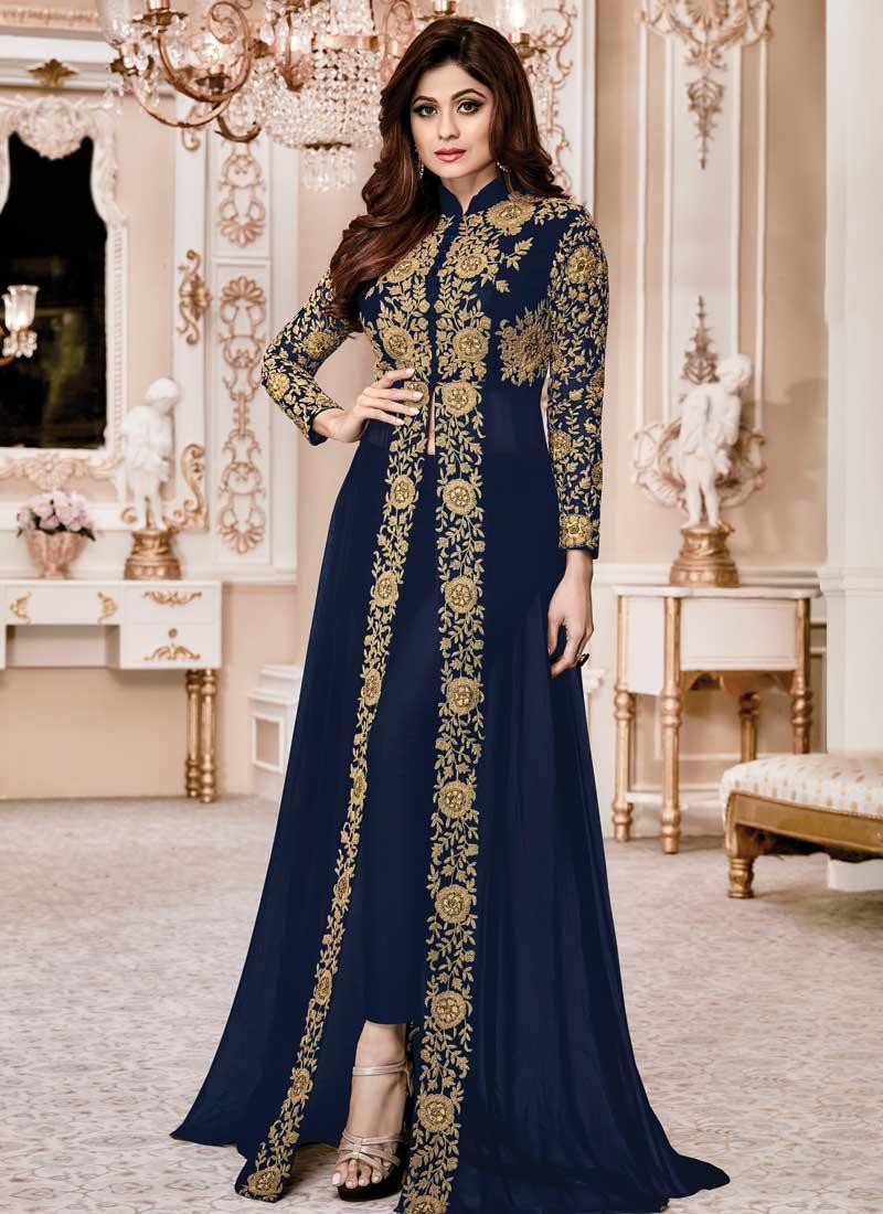 Shamita Shetty Pant Style Salwar Suit