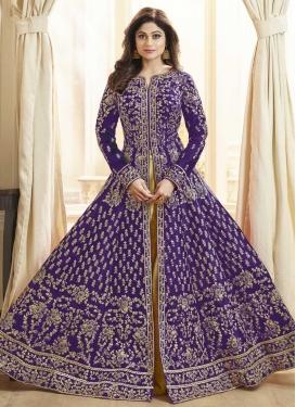 Shamita Shetty Silk Trendy Designer Salwar Kameez