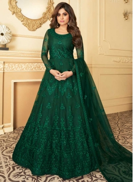 Shamita Shetty Trendy Anarkali Salwar Kameez For Party