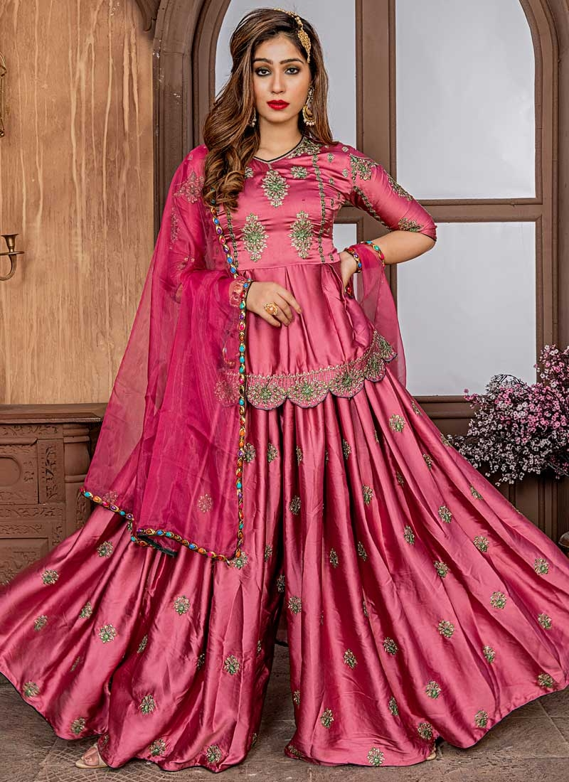 Sharara Salwar Suit For Ceremonial