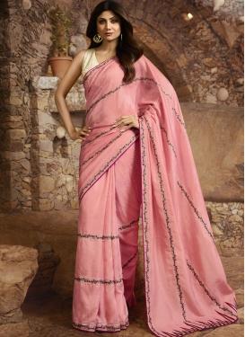 Shilpa Shetty Art Silk Designer Contemporary Saree