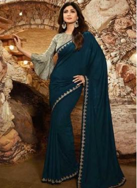 Shilpa Shetty Designer Contemporary Saree For Ceremonial