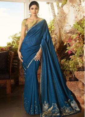 Shilpa Shetty Designer Traditional Saree For Ceremonial
